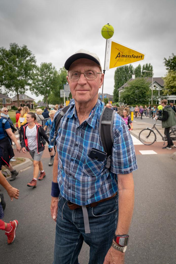 Joop de Boer tijdens de eerste etappe in Bemmel.