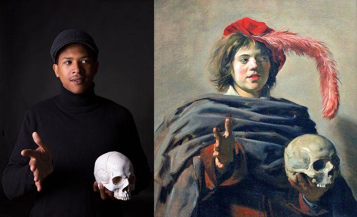 'Portret van een jongeman met een schedel' van Frans Hals, geschilderd rond 1626