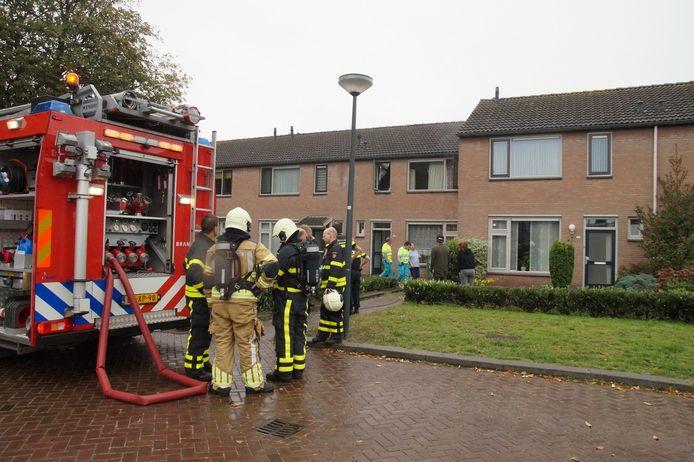 Brand in badkamer van Waalwijkse woning.