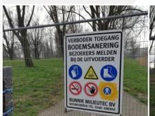 Wandelaars die willen genieten van het park in de Merwedepolder hebben pech: het is afgesloten