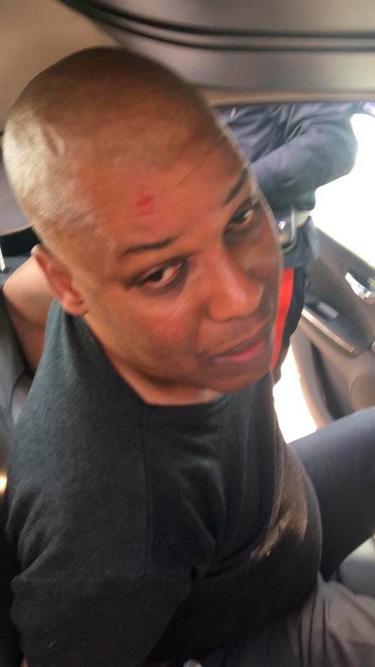 Buschauffeur Ousseynou Sy bij zijn arrestatie.
