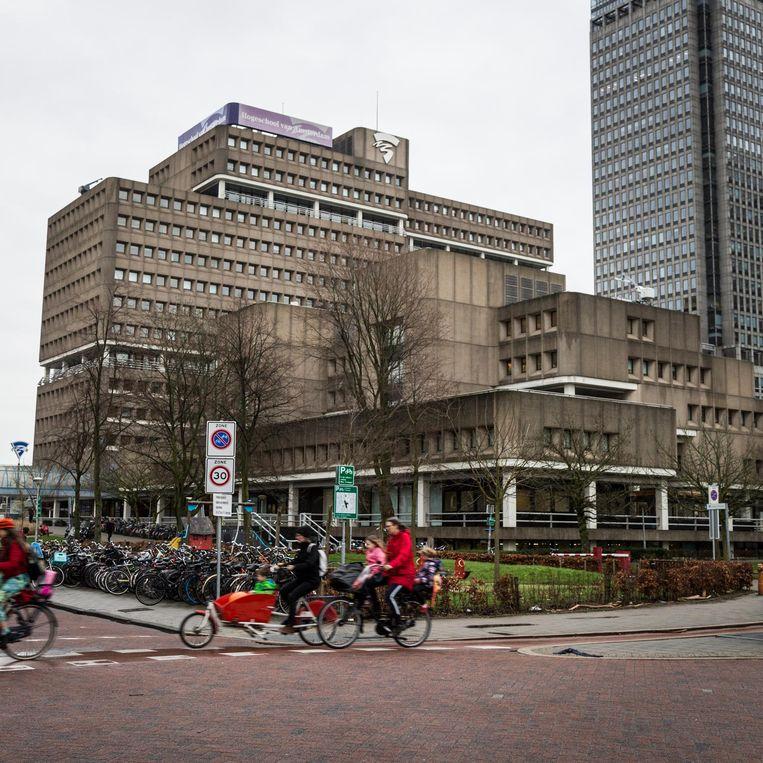 Het gebouw van de Hogeschool bij station Amstel Beeld Tammy van Nerum