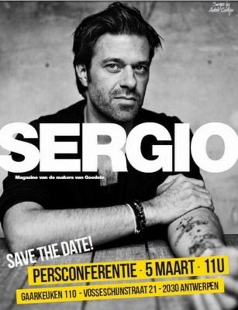 Sergio's coverportret door Anton Corbijn. Beeld Anton Corbijn