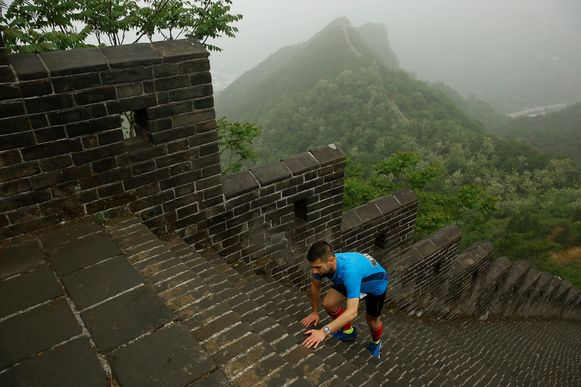 The Great Wall Marathon is één van de zwaarste ter wereld (REUTERS/Thomas Peter)