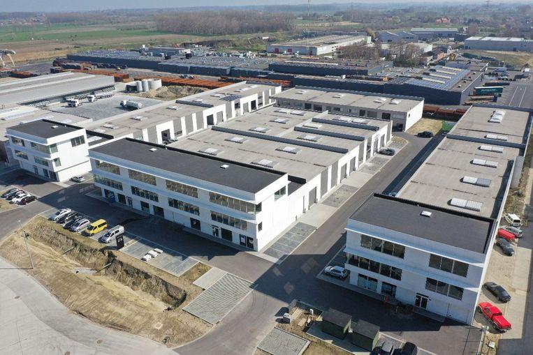 Zo zien de nieuwe KMO-units er vanuit de lucht uit.