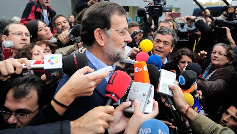 Mariano Rajoy, leider van de PP. Beeld getty