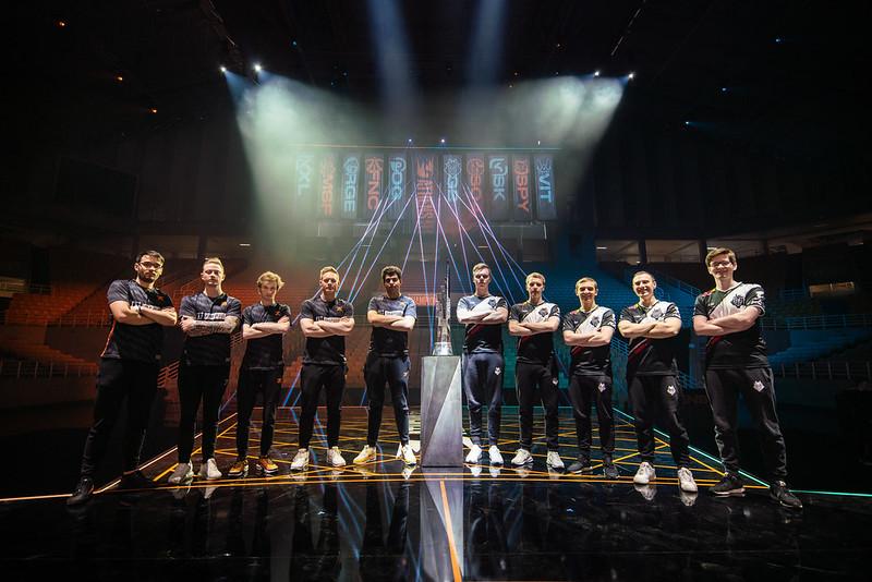 Fnatic (links) en G2 Esports staan dit weekend in de LEC tegenover elkaar, net als in de finale van vorig seizoen.