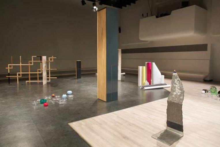 Sander Breure en Witte van Hulzen: Een Familieportret, performance, 70 minuten, Stedelijk Museum Amsterdam, 2014. Beeld -