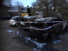 Drie auto's door brand verwoest in Weezenhof, politie doet onderzoek