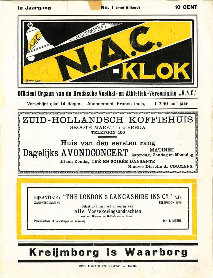 De eerste editie van de N.A.C.-Klok.