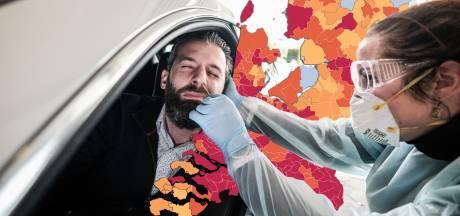 CORONAKAART   Fors hogere besmettingscijfers in regio, negen doden; RIVM spreekt van 'hoopgevend beeld'
