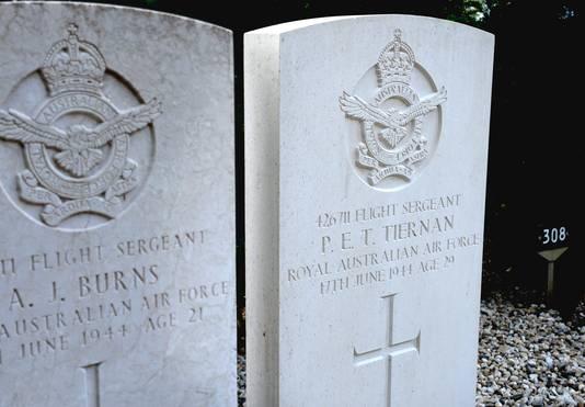Pat Tiernan is een van de bemanningsleden van een bommenwerper die bij Dodewaard crashte in de Tweede Wereldoorlog.  Foto: Do Visser.