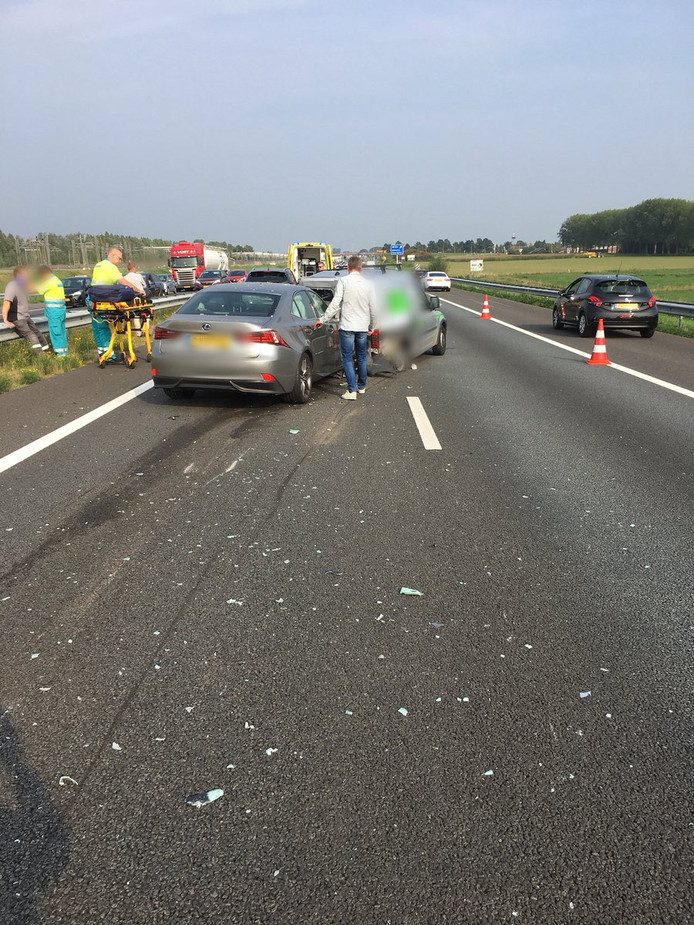 Het ongeval op de A15.