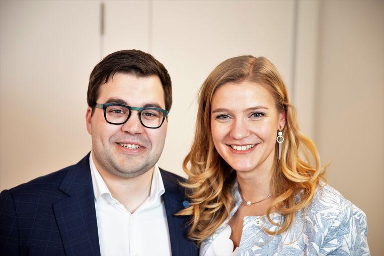 Maarten Van Tieghem en Janna Bauters staan op 26 mei respectievelijk op de Vlaamse en de federale lijst voor Open Vld.