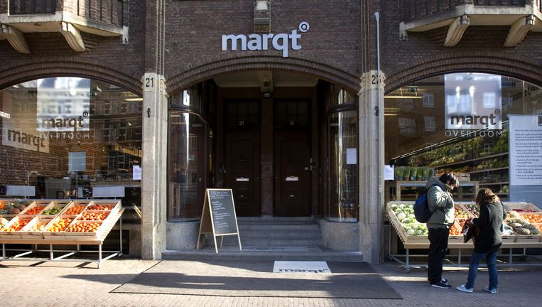 Marqt supermarkt in Amsterdam. Beeld anp