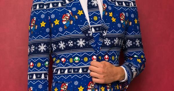 Foute Kersttrui Heren Kruidvat.Foute Kersttrui Naar Hoger Level Opposuits Komt Met Nintendo