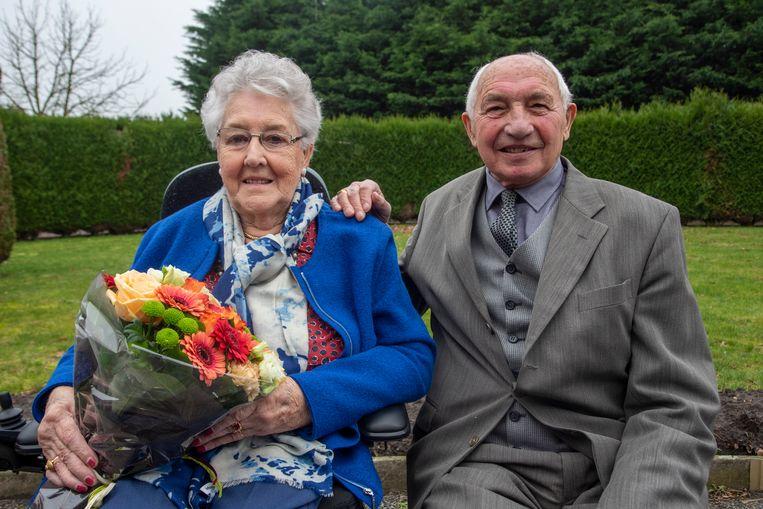 Hilda en Marcel na 60 jaar nog steeds gelukkig getrouwd.