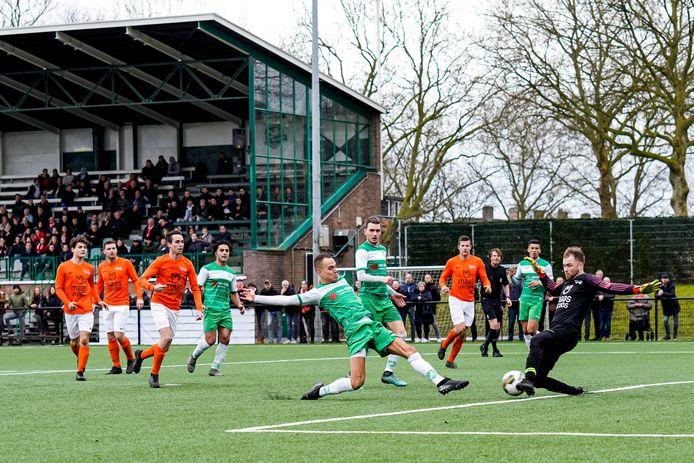 De derby Moerse Boys - Baronie staat voor de laatste speeldag gepland.