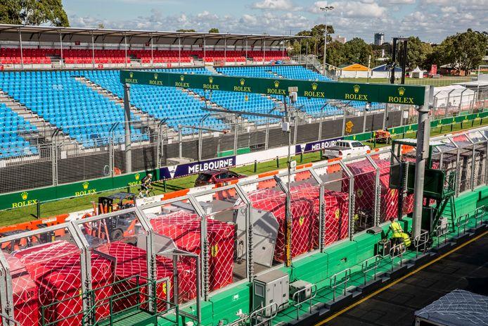 De voorbereidingen voor de F1-race van Melbourne zijn in volle gang.