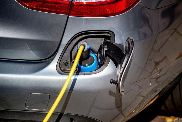 Elektrische auto. Foto ter illustratie