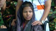 Vrouw miraculeuze redding getuigt