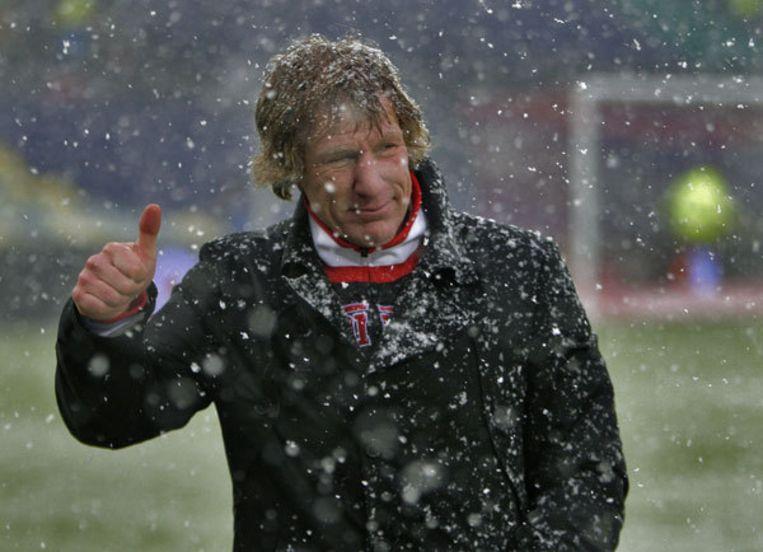 De opbloeiende formatie van trainer Gertjan Verbeek haalde uit de laatste vier competitieduels tien punten. Foto ANP/Ed Oudenaarden Beeld