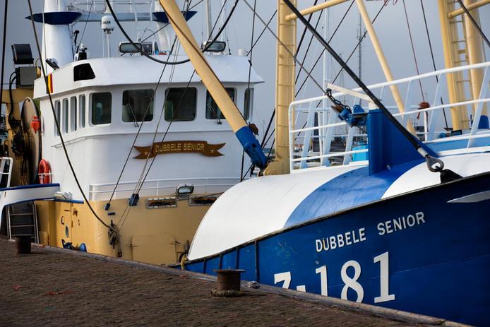 De kotter Z181 in de haven van Lauwersoog