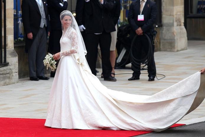 Jurk Van Kate Tentoongesteld In Buckingham Palace