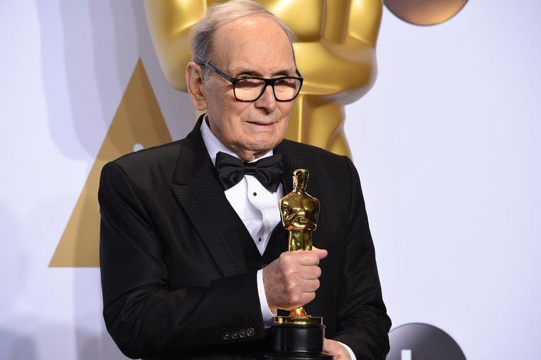 Ennio Morricone met zijn Oscar Beeld null
