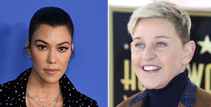 Kourtney Kardashian en Ellen DeGeneres.