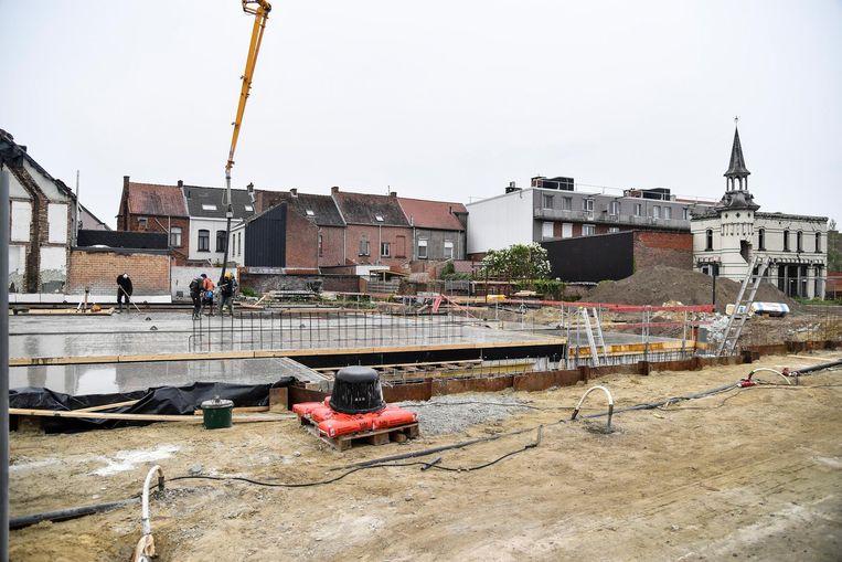Rond het torentje van het verdwenen Kasteel Vermeire realiseert een bouwpromotor 26 woningen.