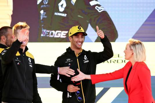 Daniel Ricciardo, de enige Australiër, was goed gemutst.