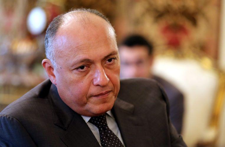 De Egyptische minister van Buitenlandse Zaken, Sameh Shoukry. Beeld null