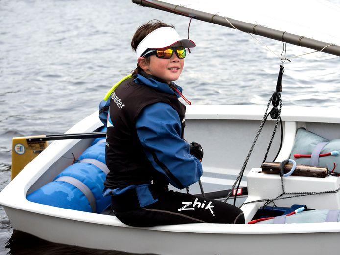De jonge Vinkevener Alexander Hartsink is in de Optimist geselecteerd voor de nationale selectie.