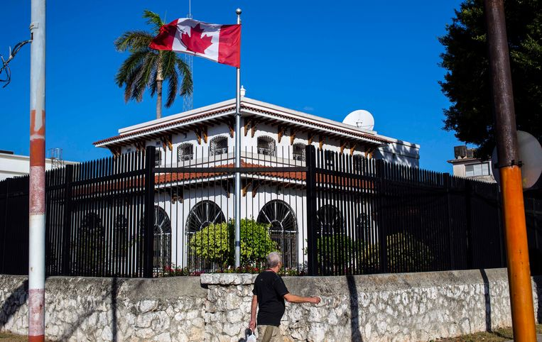 De Canadese ambassade in Havana, Cuba.