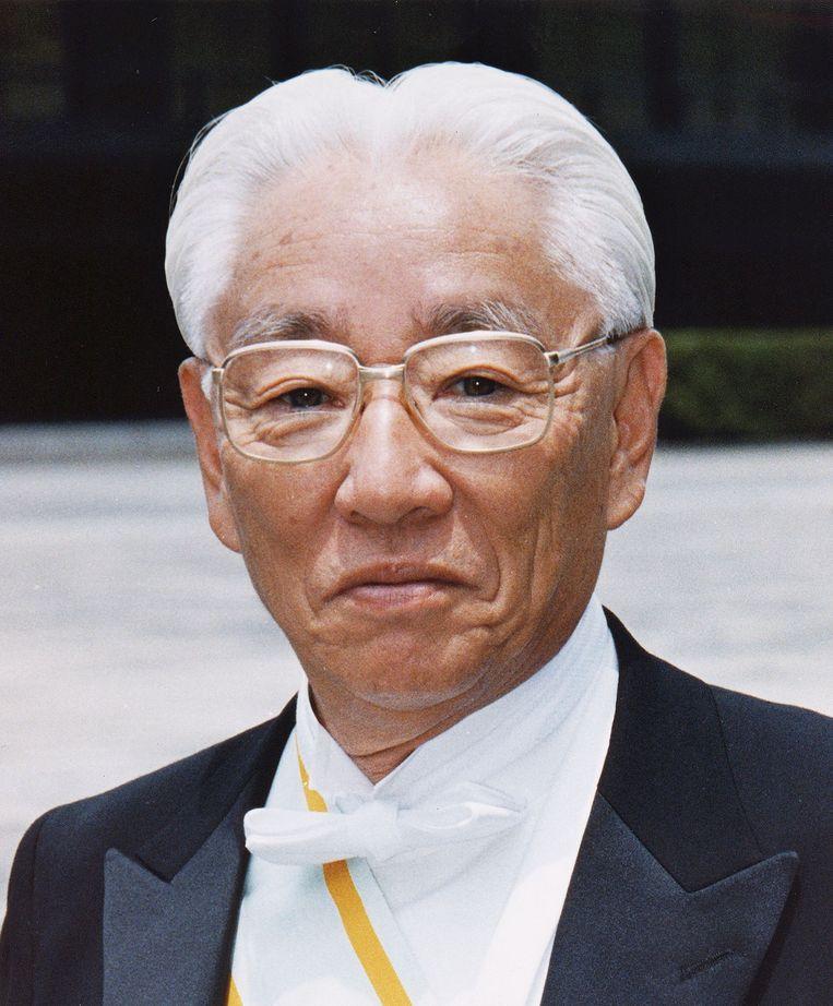 Akio Morita, een van de oprichters van Soni, zag als een van de eersten het belang van de Engelse taal Beeld AFP