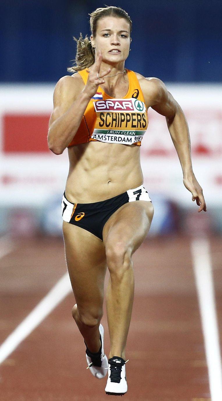 Dafne Schippers: een ode aan het menselijke kunnen. Beeld anp