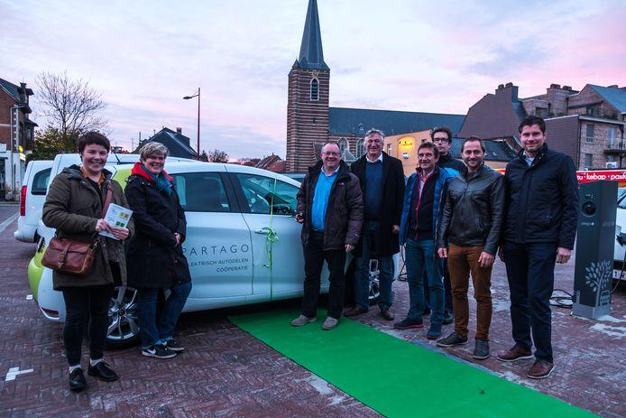 De gemeente Boechout rolde de groene loper uit voor de elektrische deelauto's van Partago.
