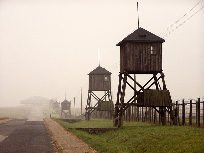 Het kamp Majdanek in 2008 waar Jan van Kuik enkele maanden verbleef.  Foto: Wikimedia Commons, Alians PL