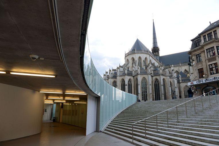 Zo zag het Rector De Somerplein in Leuven er vroeger uit.