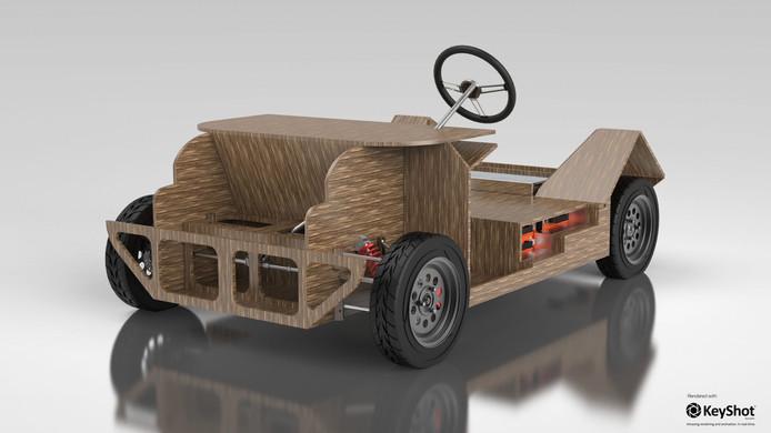 Ook het chassis is gemaakt van bio-materiaal