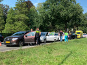 Bij het ene ongeluk waren vijf auto's betrokken.