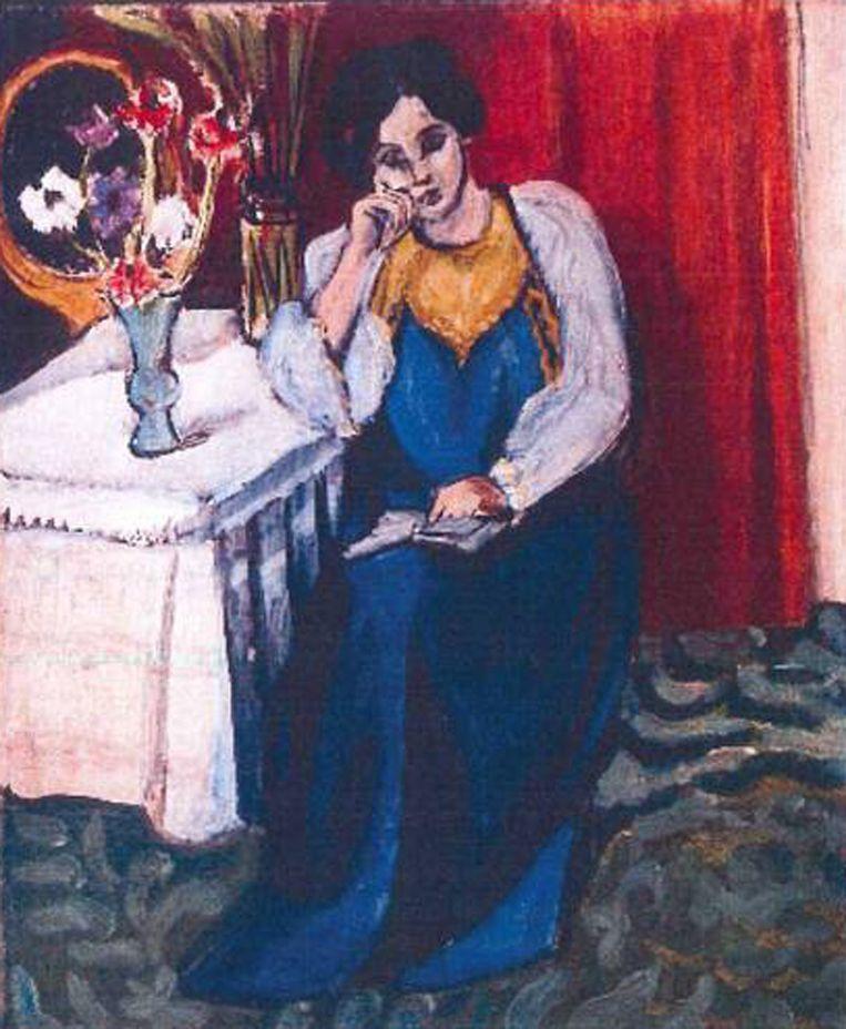 Henri Matisse: 'la Liseuse en Blanc et Jaune' (1919) Beeld