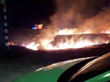 Rietbrand op Kamperzeedijk zorgt voor veel rook