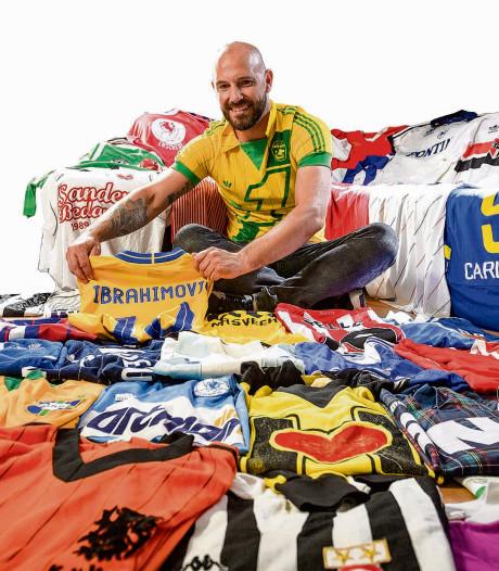 Twentse voetbalshirtverzamelaar krijgt eigen tentoonstelling in Rotterdam