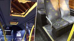 """Stuk beton valt door dakraam bus De Lijn aan viaduct E17: """"Risicozones worden zo snel mogelijk afgesloten"""""""