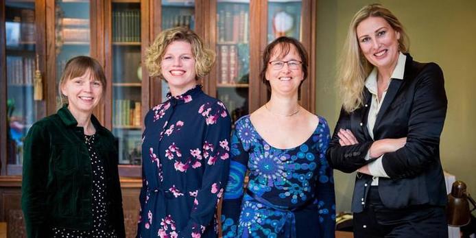 Van links naar rechts: Nies Goelema, Judith Blaauw, Margot Boeve en Antoinette Hogenkamp.