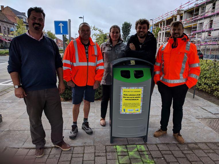 De stad Harelbeke, intercommunale Imog en Mooimakers hebben in het centrum van de stad verschillende types vuilnisbakken geplaatst om uit te testen welk type het meest geschikt is.