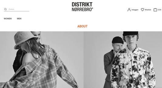 De website van Distrikt Nørrebro.