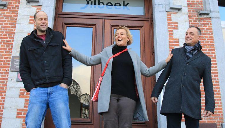 Lies Vereecke met Reindert De Schrijven en Yann Robbe.